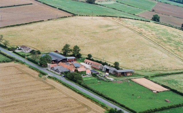 Aerial photo of Sinnington Common Farm